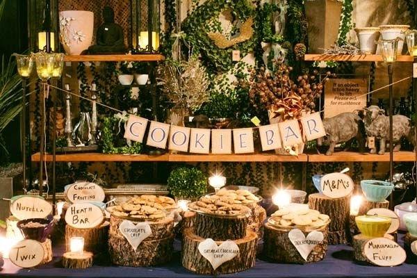 decoración en una boda en otoño