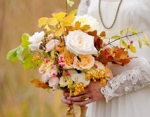 ramo de boda en otoño